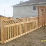 Space picket fence arbor