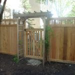 Wood Fence Arbor