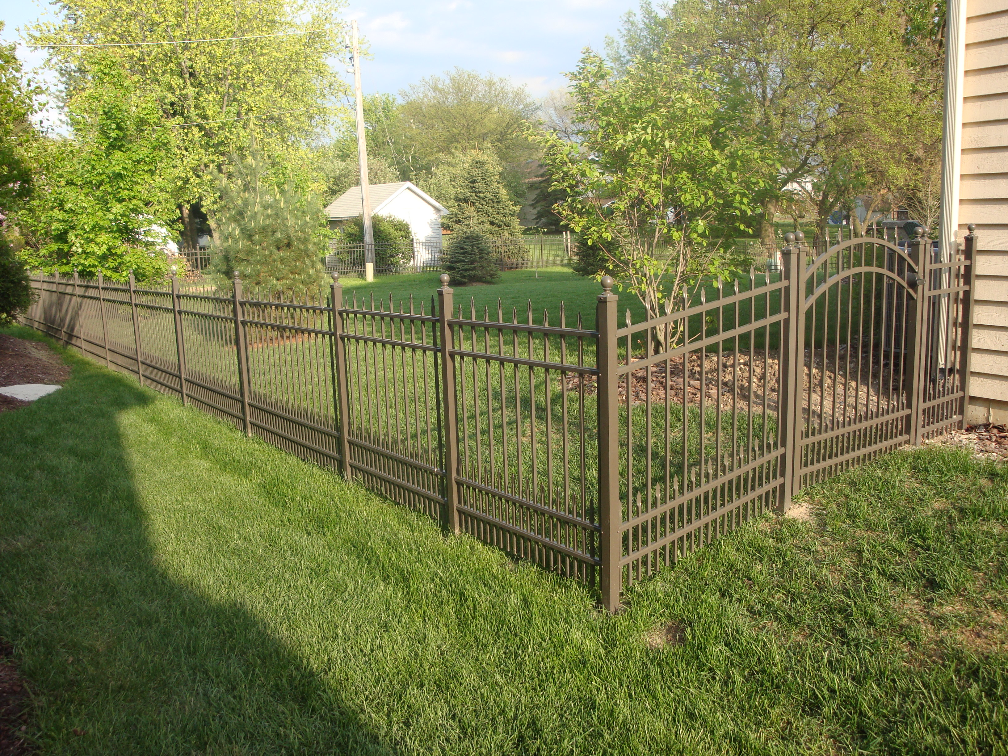 Brown Aluminum Fence