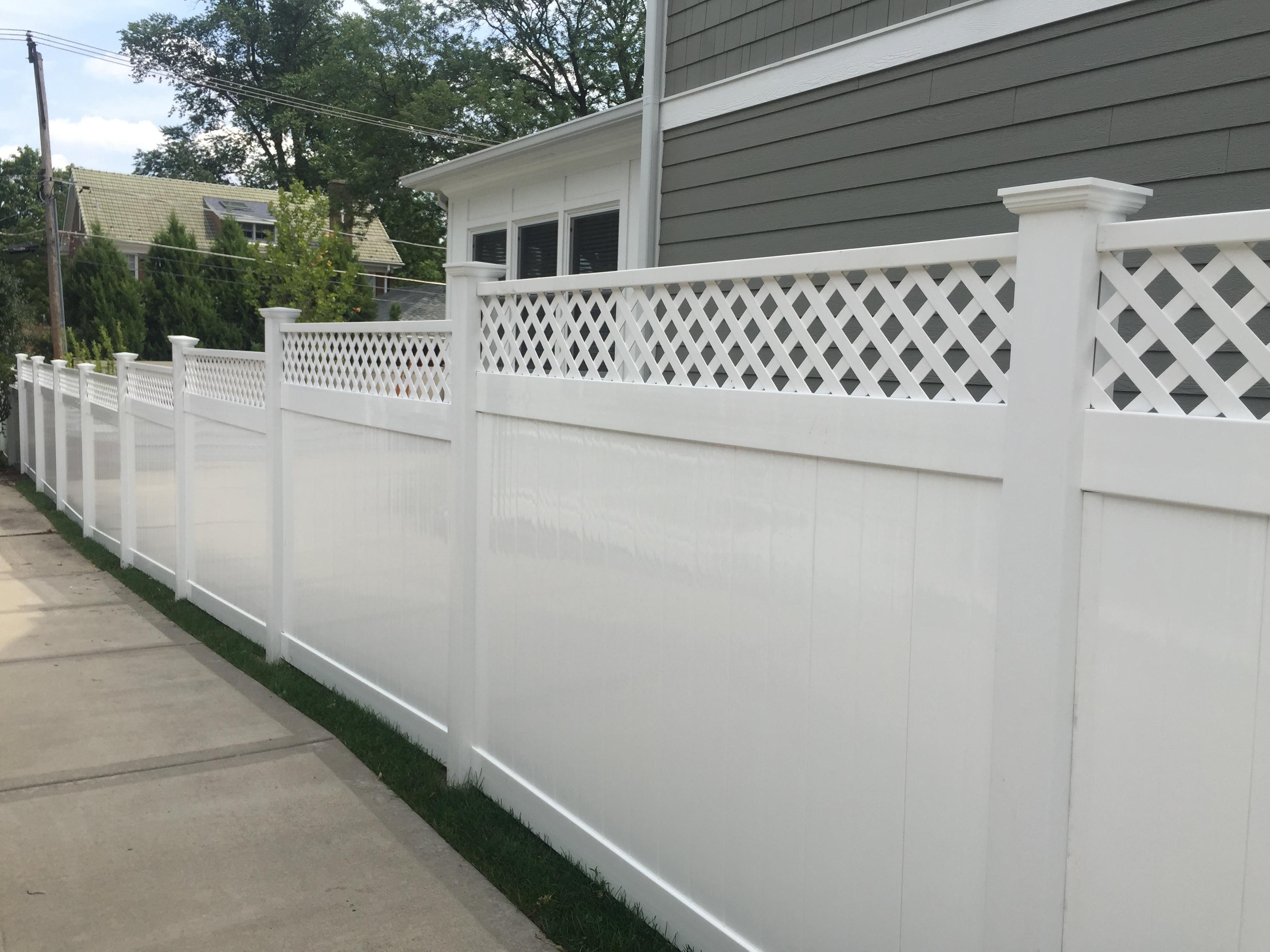 White PVC Lattice Fence